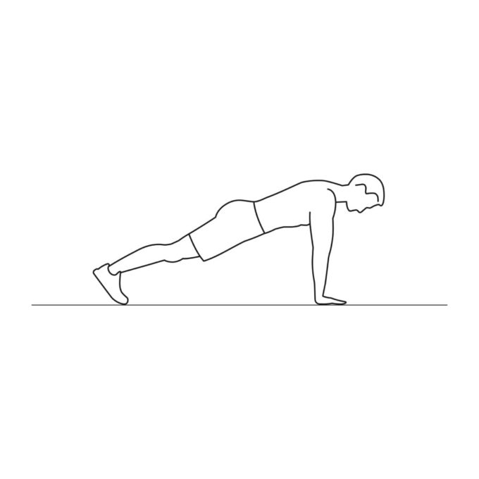 Fitness vector illustration showing burpees exercise