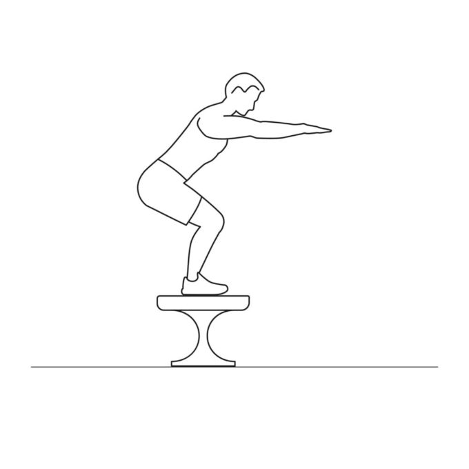 Fitness vector illustration showing jump steps exercise