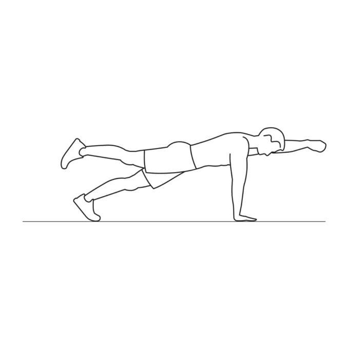 Fitness vector illustration showing alt arm leg plank exercise