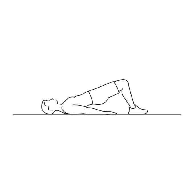 Fitness vector illustration showing bridge exercise