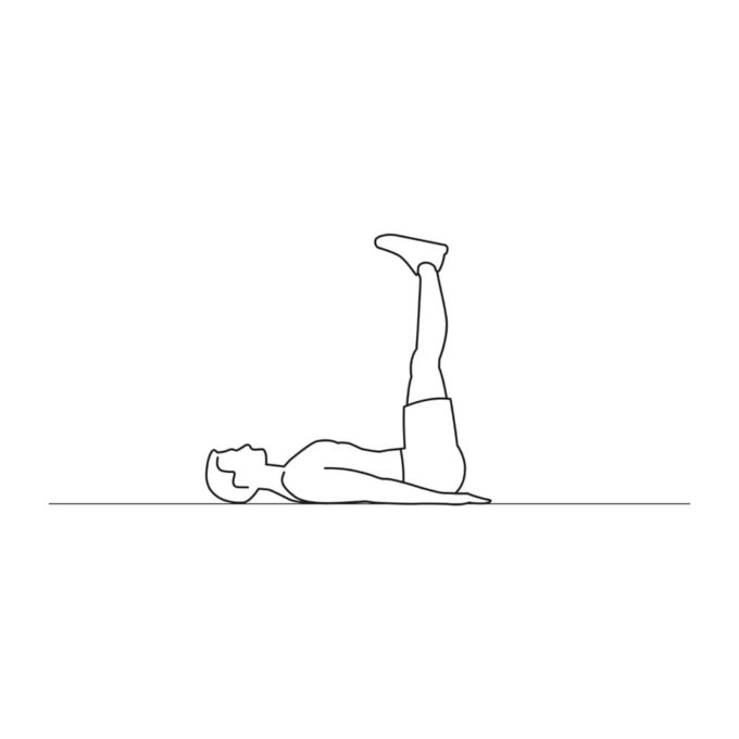 Fitness vector illustration showing butt ups exercise