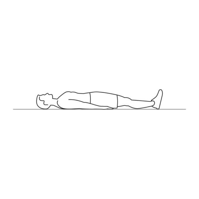 Fitness vector illustration showing raising legs exercise