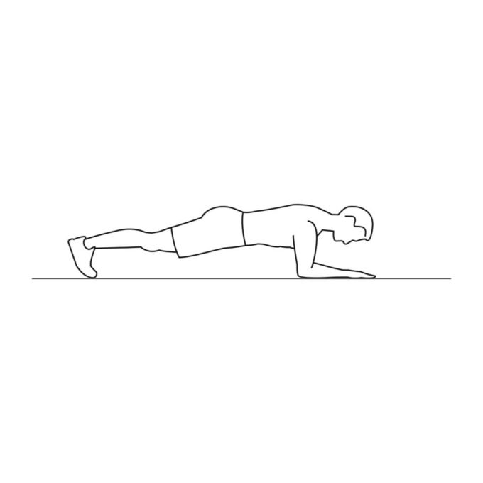 Fitness vector illustration showing up and down planks exercise