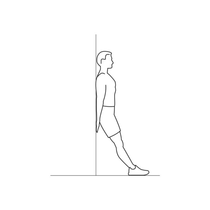 Fitness vector illustration showing wall squats exercise