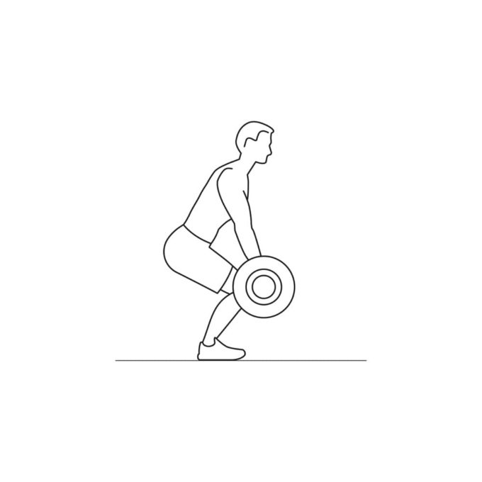 Fitness vector illustration showing weight lifting exercise